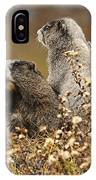 Two Marmots IPhone Case