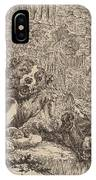 Two Mastiffs Beside A Fountain IPhone Case