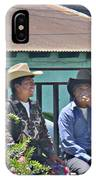 Two Men Talking IPhone Case