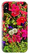 Two Of Dandelion. Floral Carpet. IPhone Case
