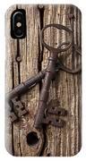 Two Old Skeletons Keys IPhone Case