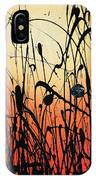 Two Orbs Meet In A Field At Sunset IPhone Case
