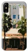 Two Palms Art Deco Building IPhone Case