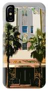 Two Palms Art Deco Building IPhone Case