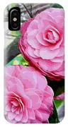 Two Pink Camellias - Digital Art IPhone Case