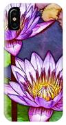 Two Purple Lotus Flower IPhone Case