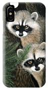 Two Raccoons IPhone Case