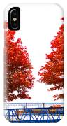 Two Red Trees IPhone Case