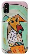 Two Star Greyhound IPhone Case