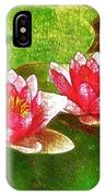 Two Waterlily Flower IPhone Case