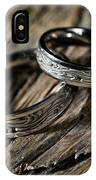 Two Wedding Rings With Celtic Design IPhone Case