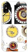 Types Of Clockfaces And Mechanism, 1809 IPhone Case