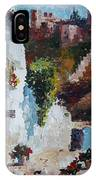 Typical Street Of Granada. Original Acrylic On Paper IPhone Case
