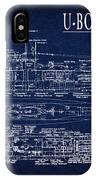 U-boat Submarine Plan IPhone Case