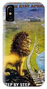 Uganda Railway - British East Africa - Retro Travel Poster - Vintage Poster IPhone Case