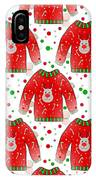 Ugly Christmas Sweater Pattern IPhone Case