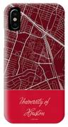 Uh Street Map - University Of Houston In Houston Map IPhone Case