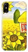 Ukrainian House With Sunflowers IPhone Case