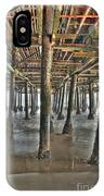 Under The Boardwalk Pier Sunbeams  IPhone Case