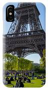 Under The Eiffel Tower, Paris IPhone Case