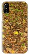Undergrowth, Leaves Carpet. IPhone Case