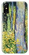 Undergrowth With Two Figures IPhone Case