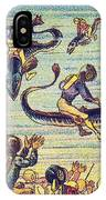 Underwater Race, 1900s French Postcard IPhone Case