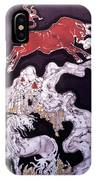 Unicorn And Red Bull IPhone Case