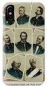Union Commanders Of The Civil War   IPhone Case