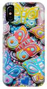 Unique Colorful Honey Cookies , Butterfly Shaped  IPhone Case