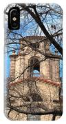 University Tower Mason Hall - Pomona College - Framed By Trees IPhone Case