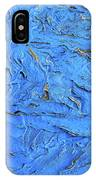Untitled-weathered Wood Design In Blue IPhone Case