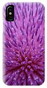 Up Close On Musk Thistle Bloom IPhone Case