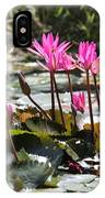Up Close Water Lilies  IPhone Case