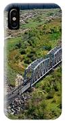 Up Tracks Cross The Mojave River IPhone Case by Jim Thompson