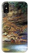 Upper Falls Holly River IPhone Case