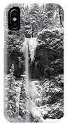 Upper Falls In Snow's Cover IPhone Case