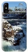 Upper Falls Winter - Spokane IPhone Case