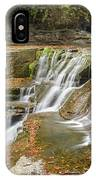 Upper Gorge Falls Of Enfield Glen In Treman State Park IPhone Case