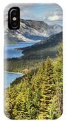 Upper Waterton Lake Valley IPhone Case
