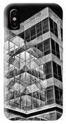Urban Abstract - Mirrored High-rise Building In Black And White IPhone Case