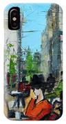 Urban Story - Champs Elysees IPhone Case