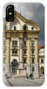 Ursuline Church Of The Holy Trinity With Marble Statues Of The H IPhone Case