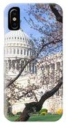 Us Capitol Building And Cherry IPhone Case