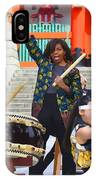 U.s. First Lady Michelle Obama  Plays The Taiko Drum  IPhone Case