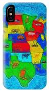 Us Map With Theme  - Special Finishing -  - Da IPhone Case