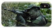 U.s. Navy Seal Crosses Through A Stream IPhone Case
