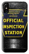 Us Route 66 Smaterjax Dwight Il Official Inspection Signage IPhone Case