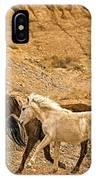 Ute Mountain Wild Horses On The Run IPhone Case
