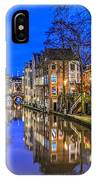 Utrecht From The Bridge By Night IPhone Case